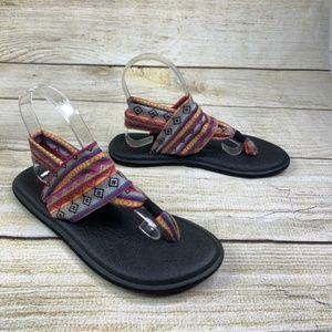 Sanuk Yoga Sling 2 Aztec Boho Strappy Sandals 8 M